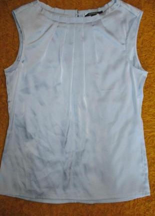 Блузка стильная с защипами атласная цвет нежный