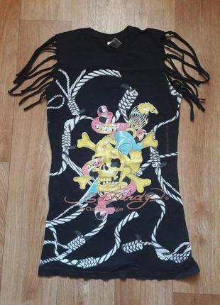 Крутое платье-туника ed hardy