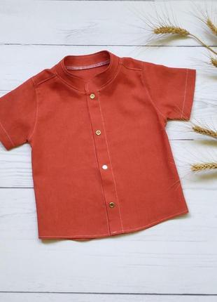 Льняная рубашка 92-98р
