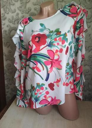 Яркая, сочная, нарядная блузка