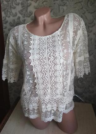 Распродажа! женская блузка кружевная