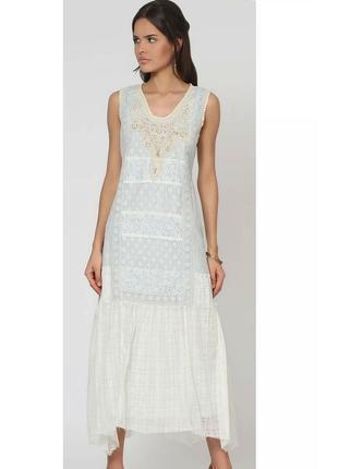 Испанское длинное платье, 97% хлопок