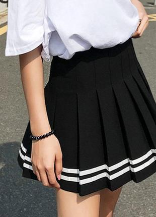 Юбка в складку. аниме юбка. юбка в корейском стиле. теннисная юбка.