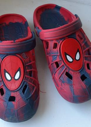 Crocs кроксы шлепанцы сабо человек паук спайдермен