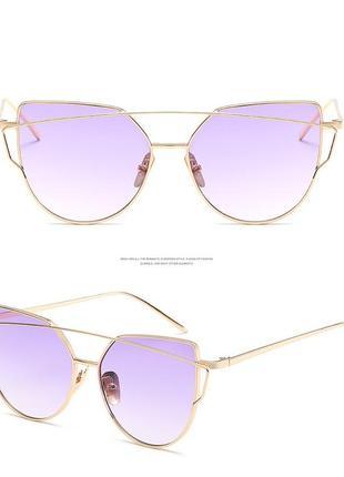 Солнцезащитные женские очки кошачий глаз cat eye градиент