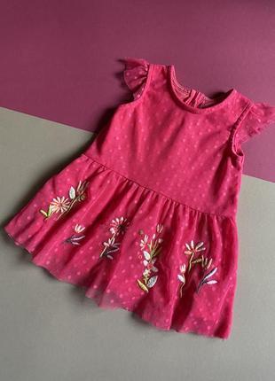 Платье с вышивкой на малышку 3-6 месяцев