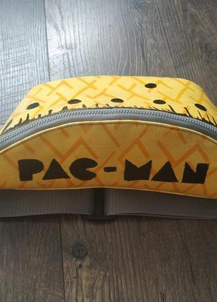 Сумка бананка на пояс, через плечо, pac-man