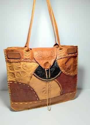 Кожаная сумка шопер 100% натуральная кожа
