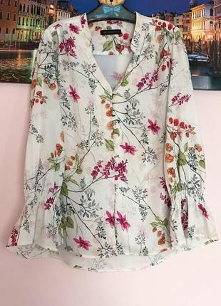 Шикарная блуза в цветы