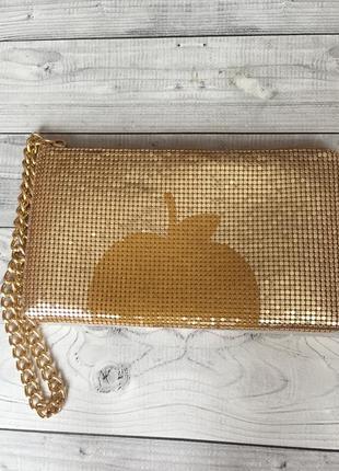 Клатч сумочка золотистая