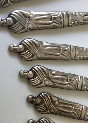 England апостольские ложки 6 штук набор. серебро sheffield.