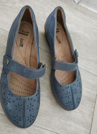 Туфли сlarks р.38 кожа