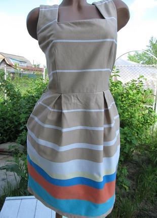 Яркое платье из натуральной ткани