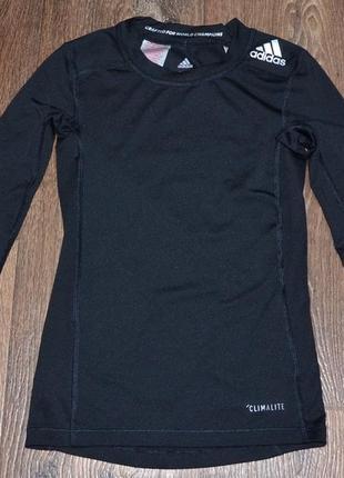 Компрессионная футболка (рашгард) adidas techfit (7-8 лет)