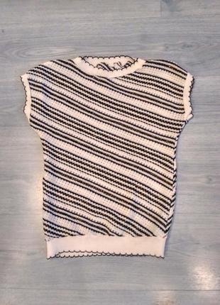 Вязаная футболка,блузка
