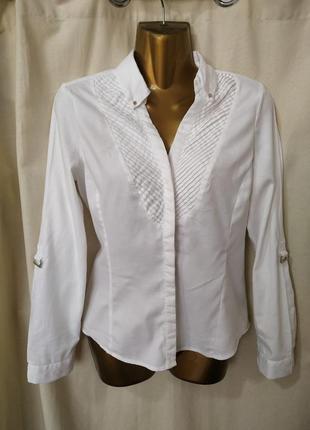 Белоснежная хлопковая рубашка