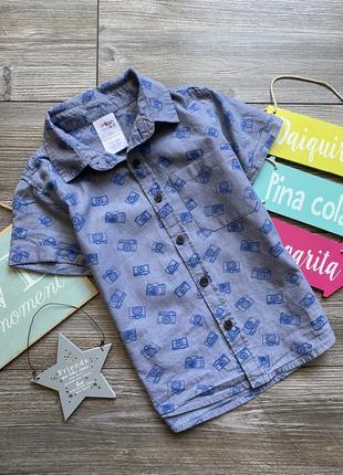 Рубашка с принтами urban rascals 5-6л