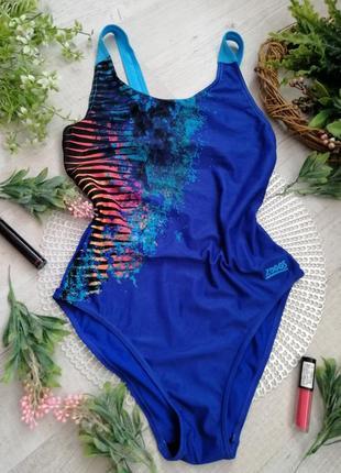 Купальник женский слитный сдельный монокини яркий zoggs aqualast синий