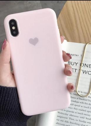 Чохол на айфон х хs iphone защита с сердечком