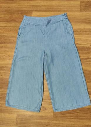 Saint tropez голубые летние джинсовые кюлоты