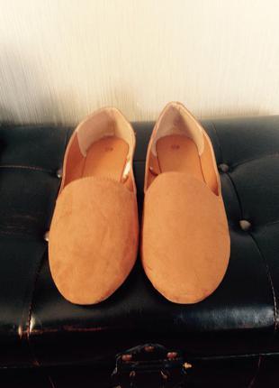 Туфли из текстиля под замш