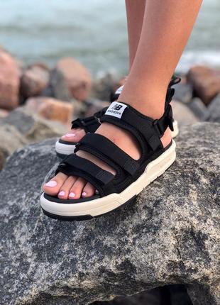 Стильные женские босоножки new balance black сандали сандалі босоніжки