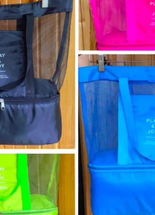 Черная пляжная сумка холодильник play & joy
