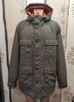 Billabong мужская удлиненная куртка с капюшоном цвета хаки