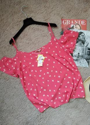 Красивая блузка с открытыми плечами/блуза/кофточка/топ