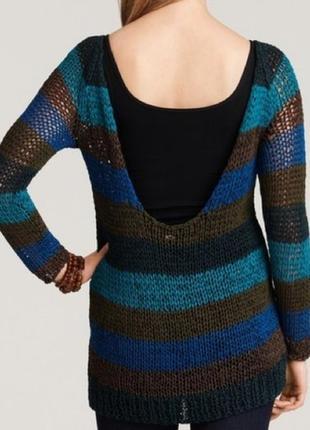 $315 theory свитер туника открытая спинка крупная вязка xs s m
