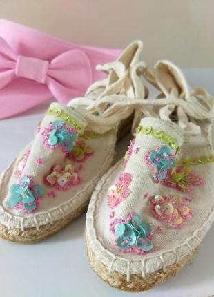 Фирменные эспадрильи для девочки. германия. летняя обувь.