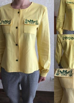 Как новая льняная стильная рубашка- вышиванка