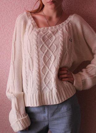 Очень красивый укороченный свитер от sc&co
