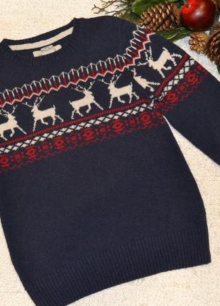Новорічний дитячий светер на 7-8 років. 🎁 1+1=3