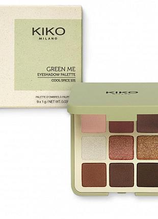 Kiko milano new green me eyeshadow palette. палетка натуральных теней