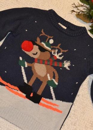 Новорічний светер на 5-6 років. 🎁 1+1=3