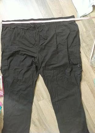 Штани, бриджи, на лето, тонкие. брльшой размер