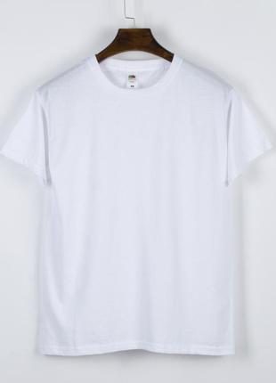 Базовая футболка белая, женская белая футболка однотонная, біла жіноча футболка