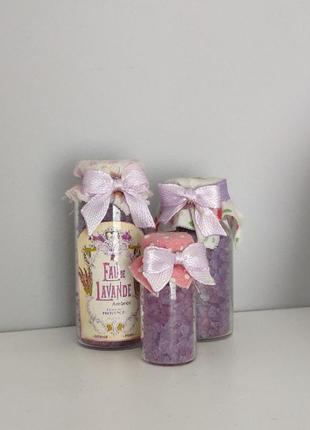 Декор соль для ванной лаванда lavender