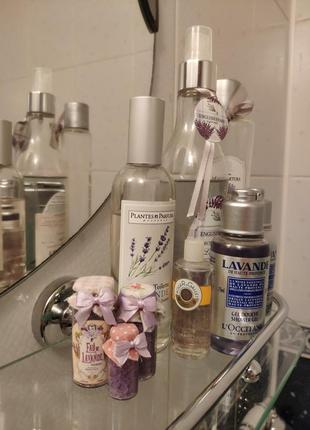 Декор соль для ванной лаванда lavender2 фото