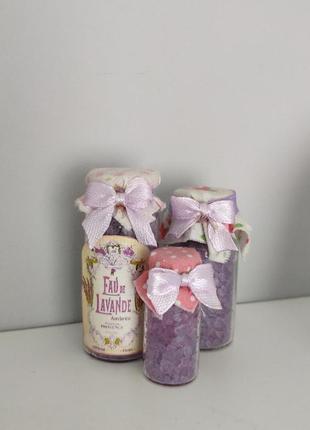 Декор соль для ванной лаванда lavender4 фото