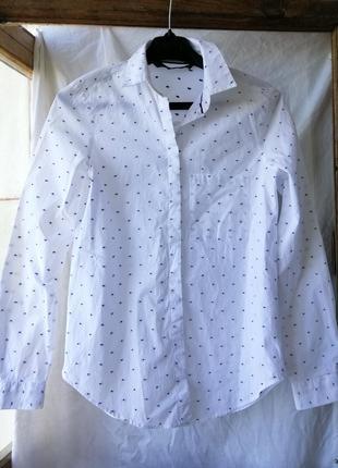 Рубашка zara хлопковая.