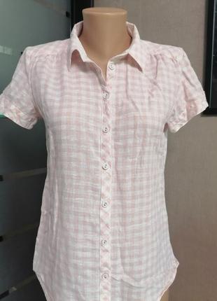 Рубашка, летняя рубашка, рубашка в клетку, хлопковая рубашка