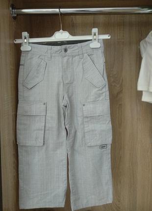 Хлопковые штаны на мальчика 7-8 лет