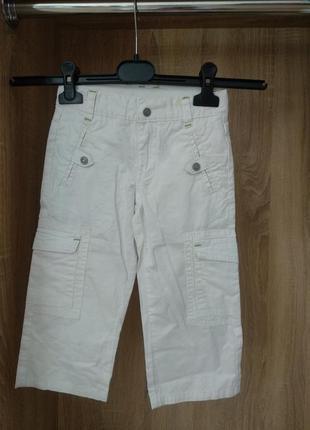 Белые хлопковые штаны на мальчика 2 года