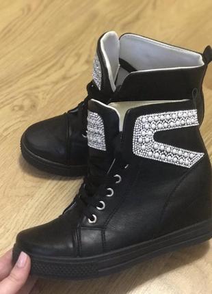 Осінні чобітки на платформі