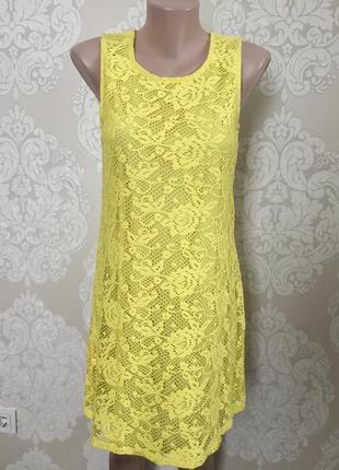 Кружевной сарафан/ жёлтое платье