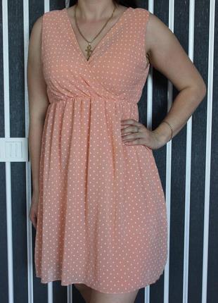 Платье горошек летнее