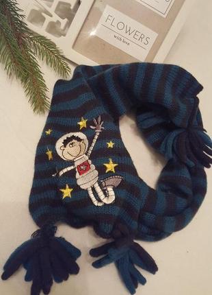 Дитячий шарфік в полосочку.🎁 1+1=3