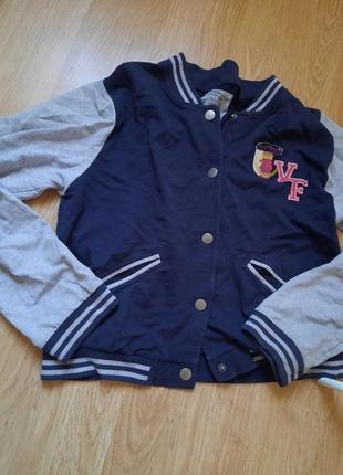 Бомбер синий кофта накидка куртка на весну  на пуговицах